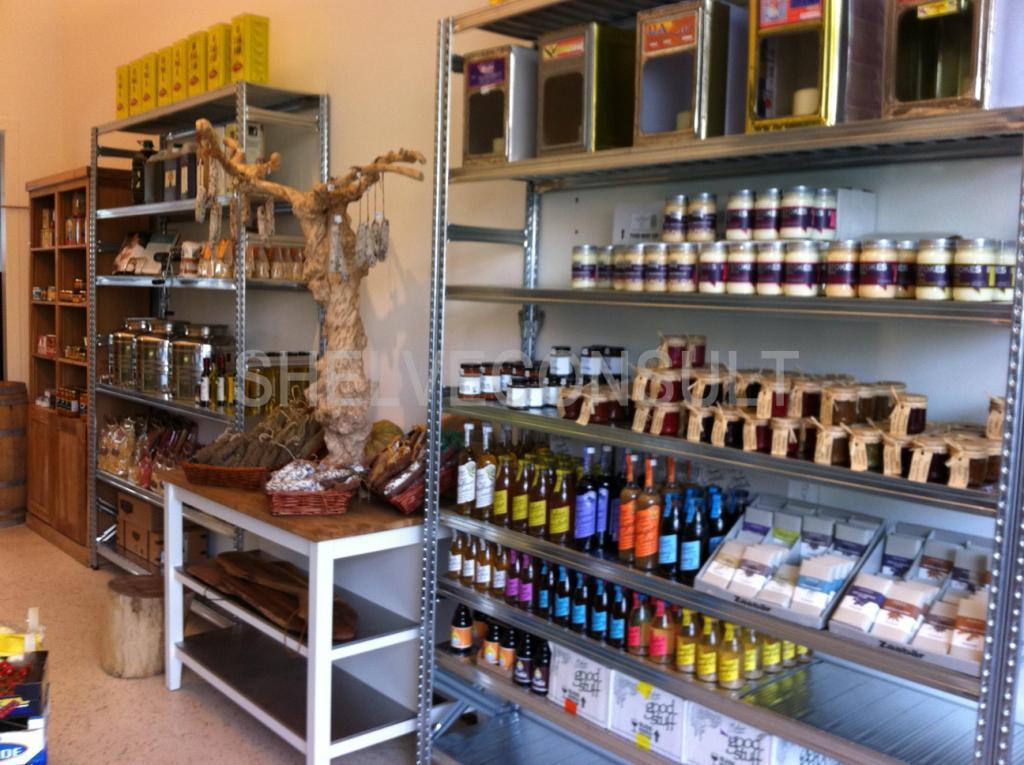 Kookwinkel inrichting winkelstelling